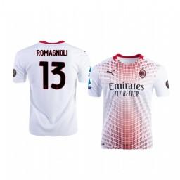 2020-21 AC Milan #13 Alessio Romagnoli White Away Replica Jersey