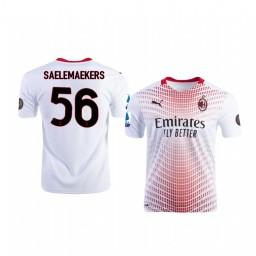 2020-21 AC Milan #56 Alexis Saelemaekers White Away Authentic Jersey