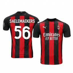 Women's 2020-21 AC Milan #56 Alexis Saelemaekers Red Home Authentic Jersey