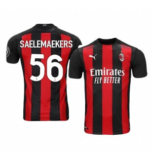 Women's 2020-21 AC Milan #56 Alexis Saelemaekers Red Home Replica Jersey