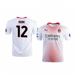 Youth 2020-21 AC Milan #12 Ante Rebic White Away Authentic Jersey
