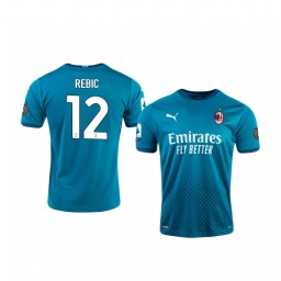Youth 2020-21 AC Milan #12 Ante Rebic Blue Third Authentic Jersey