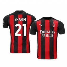 Women's 2020-21 AC Milan #21 Brahim Diaz Red Home Authentic Jersey