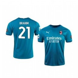 2020-21 AC Milan #21 Brahim Diaz Blue Third Authentic Jersey