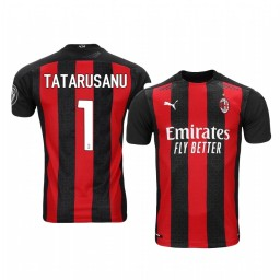 Women's 2020-21 AC Milan #1 Ciprian Tatarusanu Red Home Authentic Jersey