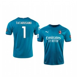 2020-21 AC Milan #1 Ciprian Tatarusanu Blue Third Authentic Jersey