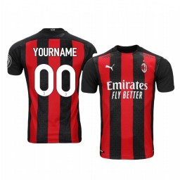 Youth 2020-21 AC Milan Custom Red Home Authentic Jersey