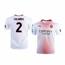 Youth 2020-21 AC Milan #2 Davide Calabria White Away Authentic Jersey