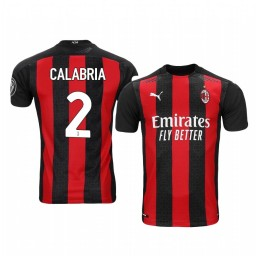 Women's 2020-21 AC Milan #2 Davide Calabria Red Home Authentic Jersey