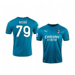 Youth 2020-21 AC Milan #79 Franck Kessie Blue Third Authentic Jersey