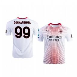 Youth 2020-21 AC Milan #99 Gianluigi Donnarumma White Away Authentic Jersey