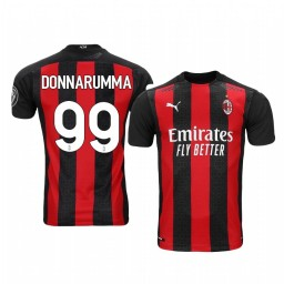 Youth 2020-21 AC Milan #99 Gianluigi Donnarumma Red Home Authentic Jersey
