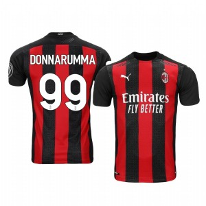 Women's 2020-21 AC Milan #99 Gianluigi Donnarumma Red Home Replica Jersey