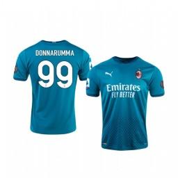 Youth 2020-21 AC Milan #99 Gianluigi Donnarumma Blue Third Authentic Jersey
