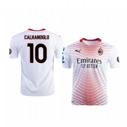 Youth 2020-21 AC Milan #10 Hakan Calhanoglu White Away Authentic Jersey