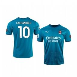 Youth 2020-21 AC Milan #10 Hakan Calhanoglu Blue Third Authentic Jersey