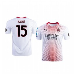 Youth 2020-21 AC Milan #15 Jens Petter Hauge White Away Authentic Jersey