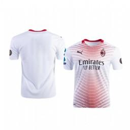 2020-21 AC Milan White Away Authentic Jersey