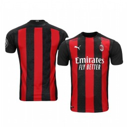 Youth 2020-21 AC Milan Red Home Authentic Jersey