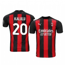 Women's 2020-21 AC Milan #20 Pierre Kalulu Red Home Authentic Jersey