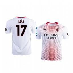 2020-21 AC Milan #17 Rafael Leao White Away Authentic Jersey