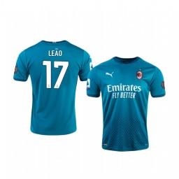 2020-21 AC Milan #17 Rafael Leao Blue Third Authentic Jersey