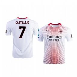 Youth 2020-21 AC Milan #7 Samu Castillejo White Away Authentic Jersey
