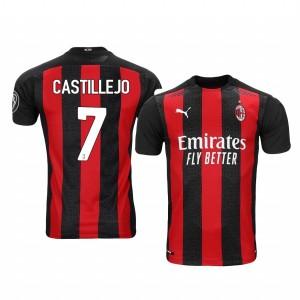 Women's 2020-21 AC Milan #7 Samu Castillejo Red Home Replica Jersey