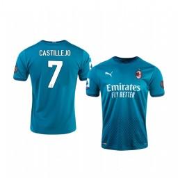 Youth 2020-21 AC Milan #7 Samu Castillejo Blue Third Authentic Jersey