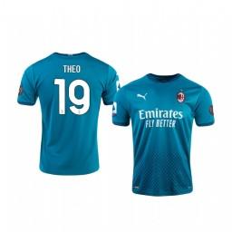 2020-21 AC Milan #19 Theo Hernandez Blue Third Authentic Jersey