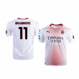 Youth 2020-21 AC Milan #11 Zlatan Ibrahimovic White Away Authentic Jersey