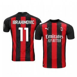 Youth 2020-21 AC Milan #11 Zlatan Ibrahimovic Red Home Authentic Jersey
