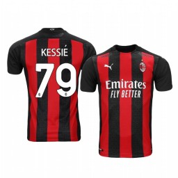 Youth 2020-21 AC Milan #79 Franck Kessie Home Authentic Jersey