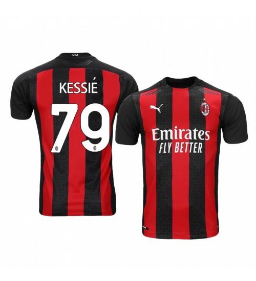Women's 2020-21 AC Milan #79 Franck Kessie Home Replica Jersey