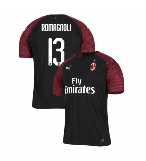 AC Milan 2018-19 Authentic Third #13 Alessio Romagnoli Black Jersey