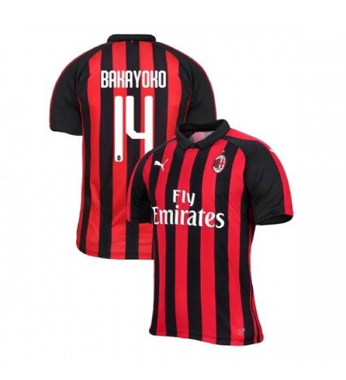 AC Milan 2018-19 Authentic Home #14 Tiemoue Bakayoko Red Black Jersey