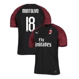 AC Milan 2018-19 Authentic Third #18 Riccardo Montolivo Black Jersey