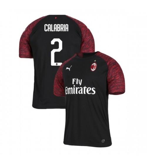AC Milan 2018-19 Replica Third #2 Davide Calabria Black Jersey