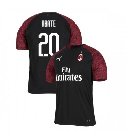 AC Milan 2018-19 Replica Third #20 Ignazio Abate Black Jersey