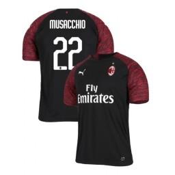 AC Milan 2018-19 Authentic Third #22 Mateo Musacchio Black Jersey