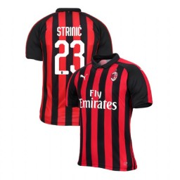 AC Milan 2018-19 Authentic Home #23 Ivan Strinic Red Black Jersey
