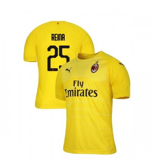 AC Milan 2018-19 Authentic Goalkeeper #25 Pepe Reina Yellow Jersey