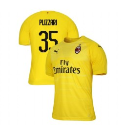 AC Milan 2018-19 Authentic Goalkeeper #35 Alessandro Plizzari Yellow Jersey