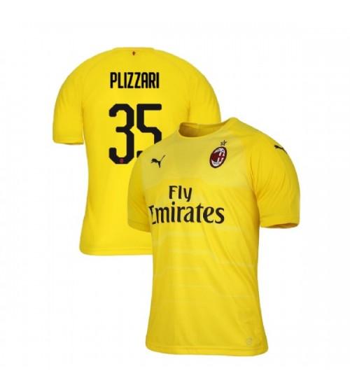 AC Milan 2018-19 Authentic Goalkeeper #35 Alessandro Plizzari Yellow Jersey