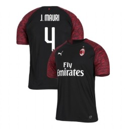 AC Milan 2018-19 Authentic Third #4 Jose Mauri Black Jersey