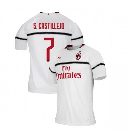 AC Milan 2018-19 Authentic Away #7 Samu Castillejo White Jersey