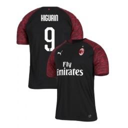 AC Milan 2018-19 Authentic Third #9 Gonzalo Higuain Black Jersey