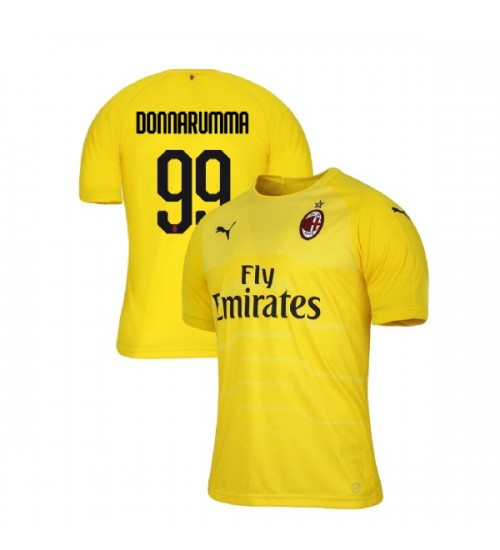 AC Milan 2018-19 Replica Goalkeeper #99 Gianluigi Donnarumma Yellow Jersey