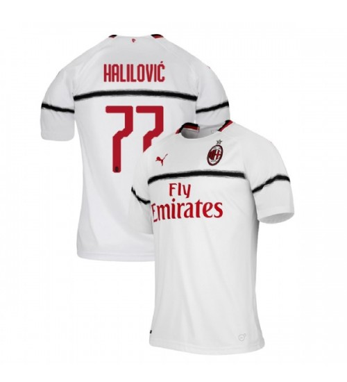 AC Milan 2018-19 Authentic Away #77 Alen Halilovic White Jersey