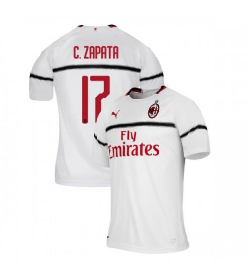 AC Milan 2018-19 Replica Away #17 Cristian Zapata White Jersey